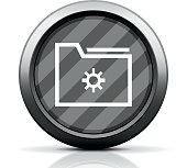 Folder icon on a round button.