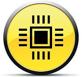 Computer Chip icon on a round button.
