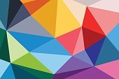 Abstract triangle technology background design