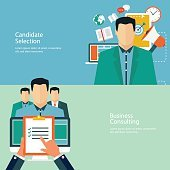 Flat design concepts for promotion and candidate evaluation