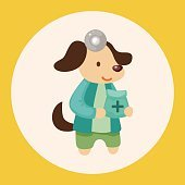 animal dog doctor cartoon theme elements