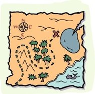Treasure Map - cartoon