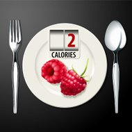 Vector of Calories in Raspberries
