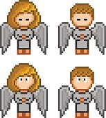 Pixel angels for christmas