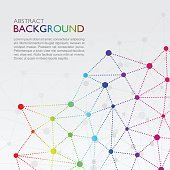 Abstract social network background with rainbow color
