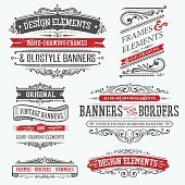 vintage frames and design elements