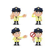 People Set - Profession - Traffic Policeman