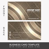 Business card template with abstract pattern. Vector illustration.