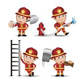 People Set - Profession - Firefighter