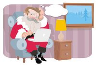 santa is thinking of you