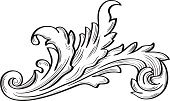 Acanthus scroll fine leaf