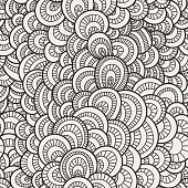 Vector seamless background of overlapping circles