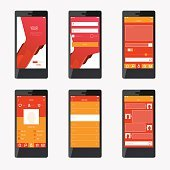 Template mobile application interface design. For website and mo