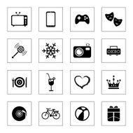 Entertainment Vecto Icons Set