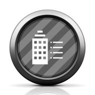 Office Building icon on a round button.