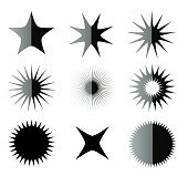 Fancy stars shapes