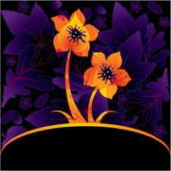 Decorative card with flower