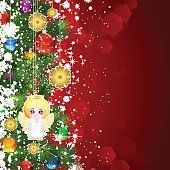 Christmas background with Christmas tree branches.