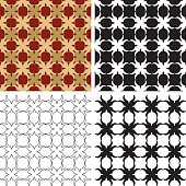 Ornate wallpaper pattern variants