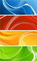Four abstract vibrant banners