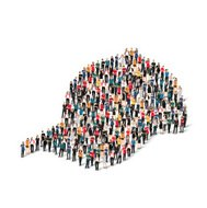 group  people  form  cap vector
