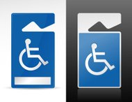 Handicap Parking Tag Illustration