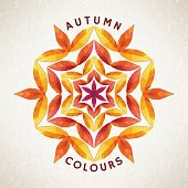 Autumn ornament with leaves. Vector illustration