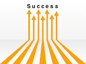 Many ways lead to success concept
