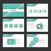 Green Multipurpose presentation template Infographic elements icon brochure flyer