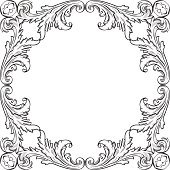 The rosette with nice acanthus leaf