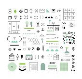 Collection of different  geometric shapes, decor elements