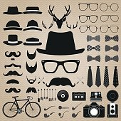 Hipster style set 5 . Vector illustration