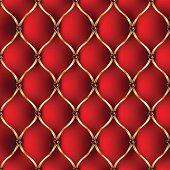 Royal red and golden tab upholstery with jewelry pattern background