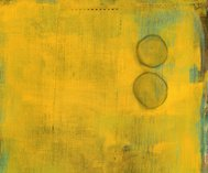 Yellow Painting with Two Circles