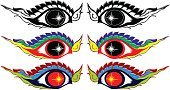 eye abstract element concept design color and silhoutte