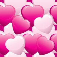 Pink Heart seamless Pattern - Valentine's Day