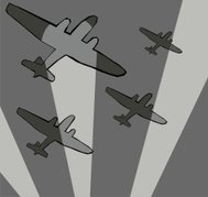 Bombers and searchlights