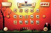 Game template  halloween theme