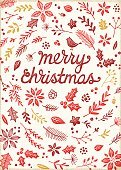 Retro Christmas Card with Letterpress Effect