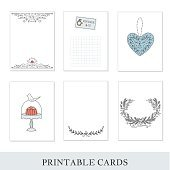 Set of 6 creative journaling cards