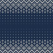Fair Isle Style Seamless Knitted Pattern. Christmas Background