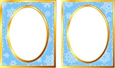 Oval Holiday picture frame with original snowflake design