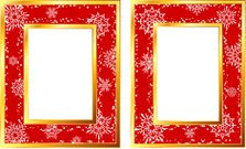 Holiday picture frame with original snowflake design