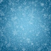Christmas background with fallen snowflakes