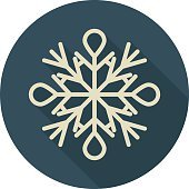 Snowflake Colored Vector Icon