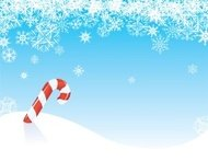 Candy Cane Winter with Snowflakes - background