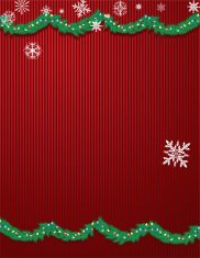 Christmas Garland and Snowflakes - Background