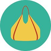 Hand Bag Colored Vector Icon