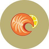 Prawn Colored Vector Icon