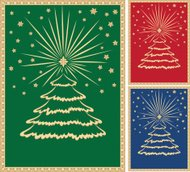 Ghristmas Tree with Gold Border